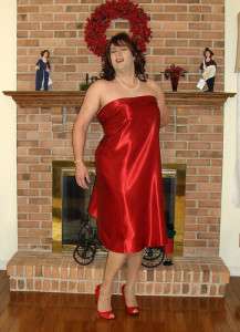 transvestite in red